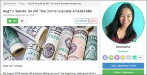 Grace Wealthy Affiliate Success Story