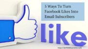 Turn facebook likes into email subscribers