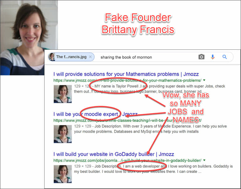 The fake owner of 60 Minute Profit Plan Brittany Francis