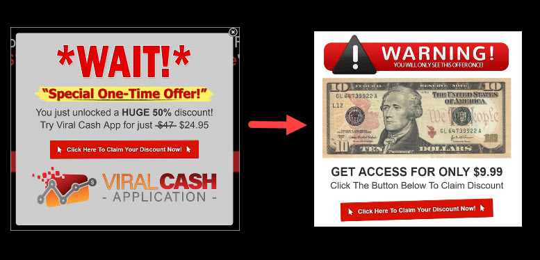 Price Markdown of Viral Cash App