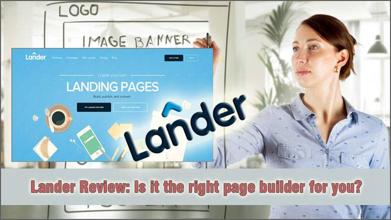Lander App product review featured image inside ClickWebSuccess website