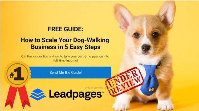 LeadPages product review featured image inside ClickWebSuccess website
