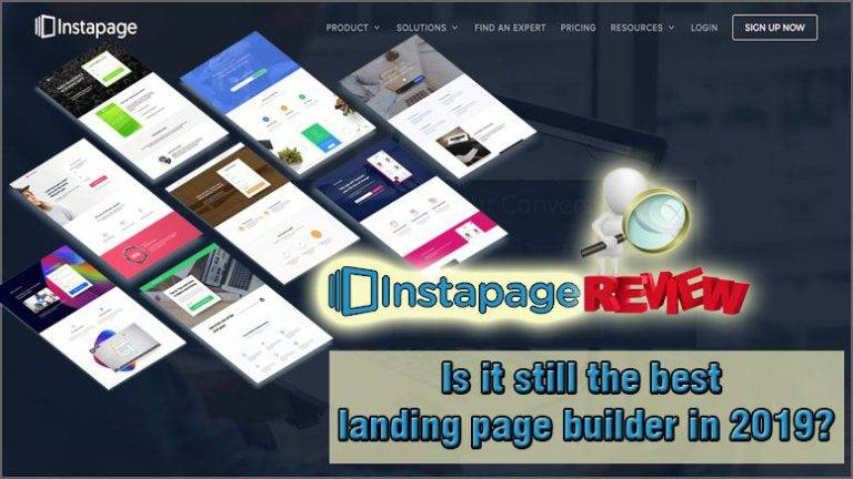 Instapage product review featured image inside ClickWebSuccess website