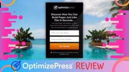 OptimizePress Product Review Featured Image inside ClickWebSuccess website